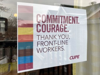 Courage. Commitment. Thank you front-line workers.