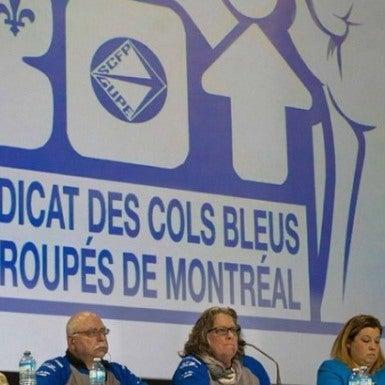 Assemblée des cols bleus de Montréal le 25 novembre 2015