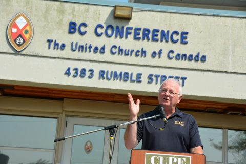 CUPE National President Paul Moist said the United Church of Canada needs to put its stated values of social and economic justice into action when dealing with its employees.