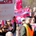 Les membres du SCFP se rassemblent pour les pensions