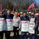 CUPE national leaders bring solidarity message to striking CUPE 4325 picket line