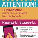 Affiche Les signes avant coureurs de la privatisation