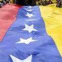 Venezuelan flag and people