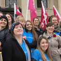 CUPE members celebrating midwifery in Manitoba