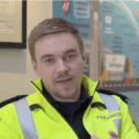 Paramedic in yellow jacket