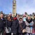 Des membres du SCFP sur la colline du Parlement
