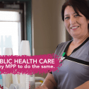 CUPE member defending public health care