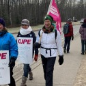 Picket line support for striking faculty at UNBC