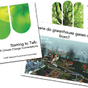 Powerpoint slides with pictures of trees and pollution
