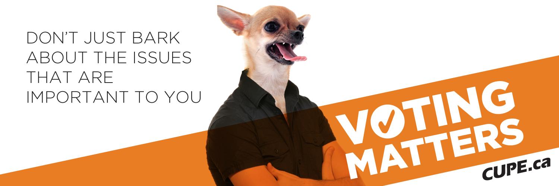 Voting Matters Header: Dog Image